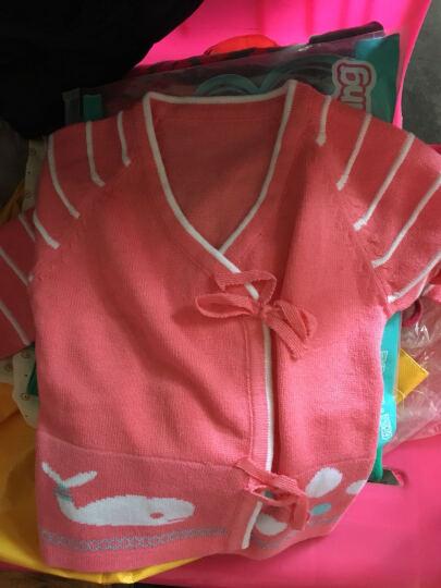 婴佳宜(YJY) 男女宝宝婴儿毛衣套装绑带和尚服宝宝针织衫毛线衣两件套春秋装新生儿打底衫 Z025西瓜红 S码建议0-6个月 晒单图