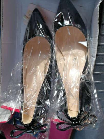 范思蒙  新款单鞋女时尚舒适优雅高跟鞋 白色 36 晒单图