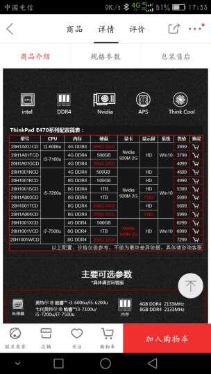 ThinkPad 联想E460(20ETA061CD)14英寸商务轻薄笔记本电脑 晒单图