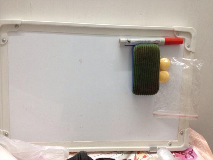 文立方 双面磁性白板 双白挂式磁性小白板 涂鸦板 家用写字白板教育培训支架式白板 30*40CM双面白 晒单图