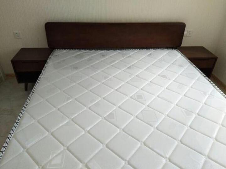 匠友(JIANGYOU) 匠友北欧实木床单双日式1.5/1.8米床现代简约卧室家具婚床 原木色 1.8M床+床垫 晒单图