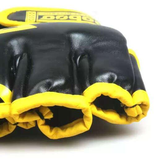 逐波Zooboo 拳击手套 散打跆拳道打沙袋拳套MMA格斗训练透气露指半指手套 晒单图
