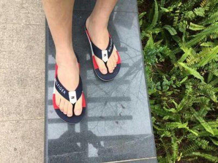 拖鞋男夏季防滑透气人字拖柔软舒适休闲沙滩鞋大码男鞋子 02白兰 42 晒单图