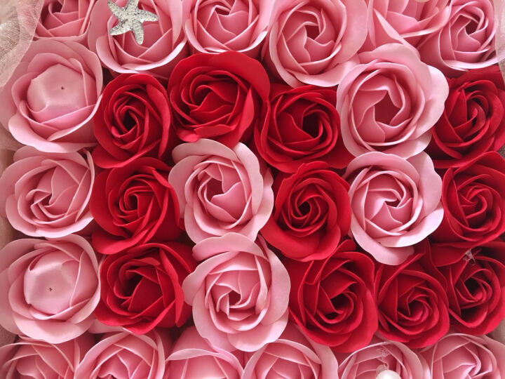 I'M HUAHUA 99朵玫瑰花香皂花礼盒同城保鲜花速递全国生日情人节礼物送女友永生花 无货-21朵紫玫瑰香皂花礼盒 晒单图