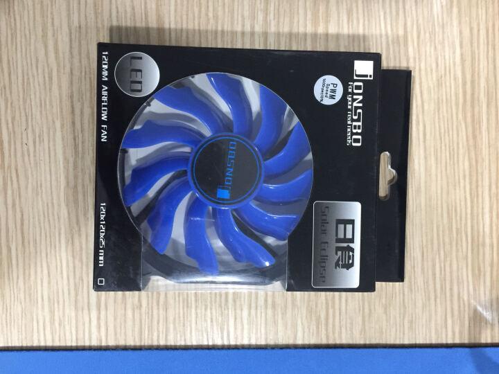 乔思伯(JONSBO)Eclipse日食-炫光蓝 12CM机箱风扇 (LED发光风扇/PWM智能温控/主板4PIN接口) 晒单图