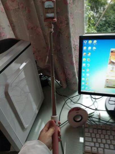 炫淘  自拍杆线控大镜面手机拍照自拍神器 适用于苹果/华为/VIVO/OPPO/小米 马卡龙清新大镜子自拍杆-紫色 晒单图