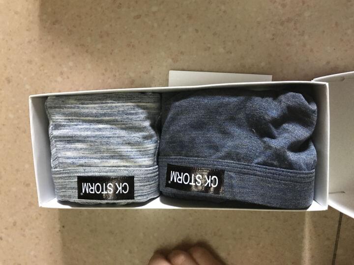 CK STORM男士内裤男平角裤莫代尔棉舒适3D太空舱U裆设计中腰男式裤头2条装时尚款礼盒装 2条装(黑色+咖啡) L(170/95) 晒单图