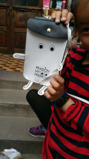 INZOOM日韩新款卡通可爱迷你斜挎包复古单肩包手机包学生女包小包 机器人白色 晒单图