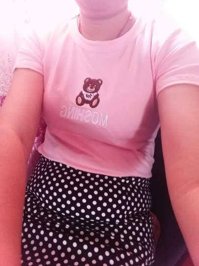 开芮2017春夏装新款女装韩版新款夏季圆领修身短袖百搭T恤女J4F-D052A-9098 白色 M 晒单图