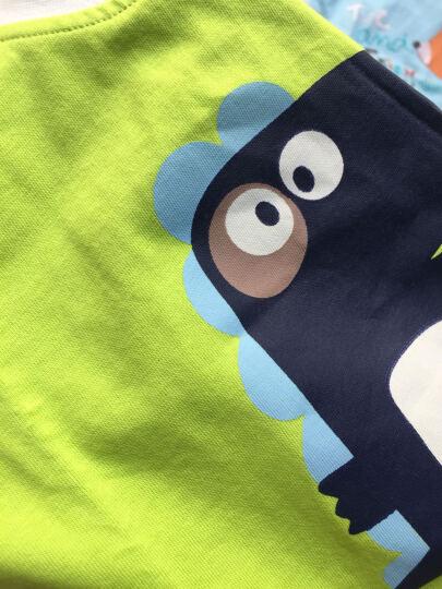 南极人(Nanjiren) 南极人宝宝2018夏季纯棉短袖套装婴儿全棉夏天衣服新款儿童童装 可爱小云朵-浅绿 100CM 晒单图