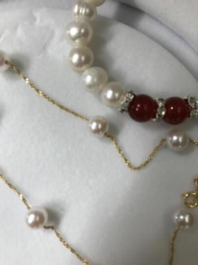 雨恋尘(yulianchen) 满天星 日本akoya海水珍珠项链18k金 送妈妈 女友 43cm11颗 (7.5-8MM 晒单图