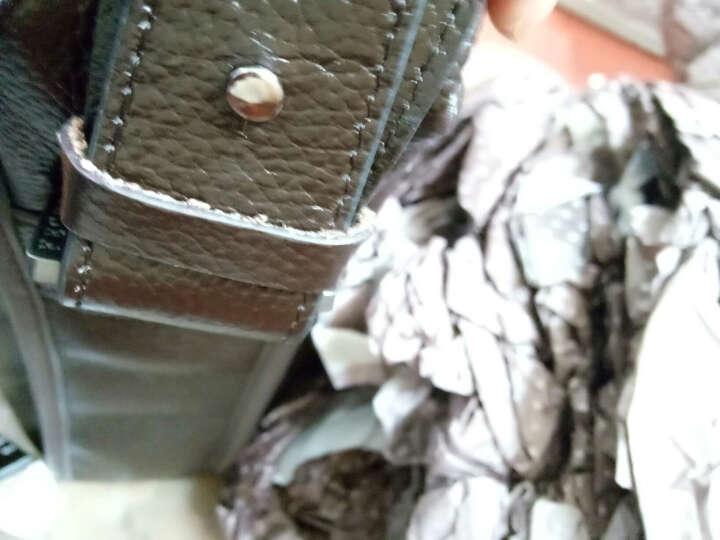 斐格男包手提包 真皮公文包男士商务竖款休闲单肩斜挎包新款时尚潮男背包 棕色大号  送手包 竖款 晒单图