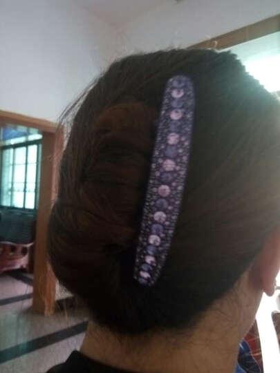 满意轩stellux水钻七齿盘发插梳 发梳气质发卡发插盘发发饰 女百搭头饰 紫色 晒单图