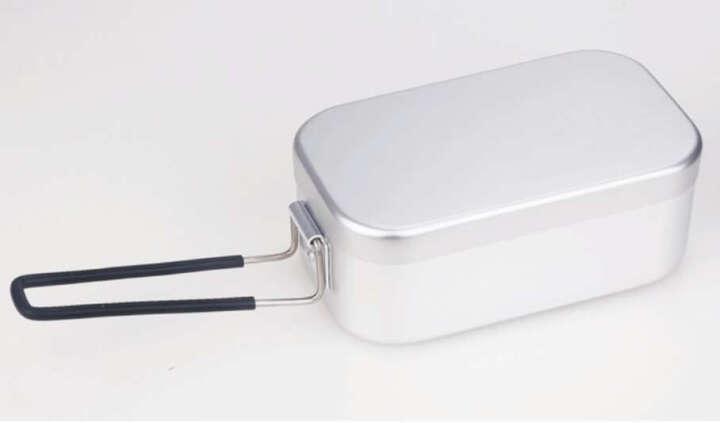 户外野营饭盒 老日式蒸饭盒野炊带饭便当盒铝制野餐餐具 新款 晒单图
