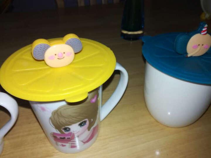 家英 创意防漏水杯盖 硅胶盖子 密封盖 魔术硅胶杯盖 黄色 晒单图