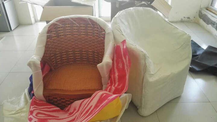 祥藤富竹 藤椅子茶几三件套阳台桌椅客厅休闲椅咖啡桌椅组合酒店会所家具 4+1 晒单图