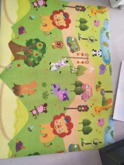 曼龙爬行垫XPE材质加厚2cm爬行毯双面婴幼儿童爬爬垫泡沫垫宝宝环保地垫 曼龙乐园+曼龙小动物(安全环保) 180*200*2cm(双面图案+包边) 晒单图