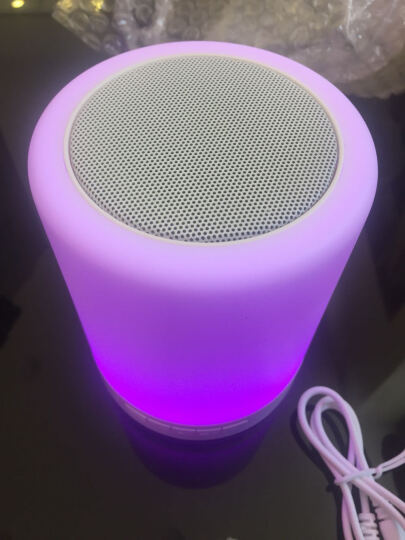 憨豆智能(USHANDLE)无线蓝牙音箱迷你便携式氛围台灯插卡小音响免提通话器 LV2015+(高品质音质蓝牙音箱灯) 苹果/华为/OPPO/VIVO/小米/三星/魅族 晒单图