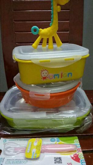 omilan 欧米兰学生饭盒 304不锈钢儿童便当盒方形餐盒密封防漏保鲜盒 900ML大号黄色 晒单图