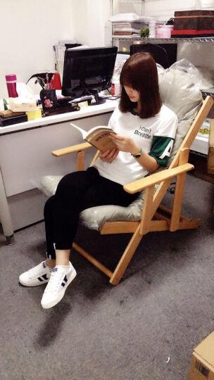 宝达丽家 实木躺椅折叠午休靠椅单人休闲凳子懒人沙滩椅子软垫沙发椅原木色逍遥椅子 6001 晒单图