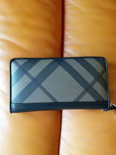 男士手包手拿包信封包手抓包大容量男式时尚休闲商务拉链钱包手包 蓝色款 晒单图