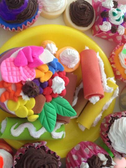 多彩艺奶油土儿童橡皮泥超轻粘土彩泥套装玩具DIY黏土公主女孩蛋糕裱花嘴 手工彩泥 食玩配件3个迷你木糠杯慕斯杯布丁杯 晒单图