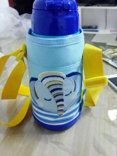 杯具熊(beddybear) 儿童保温杯带吸管直饮两用儿童水杯保温儿童水壶600ml 经典款-大象蓝色 晒单图