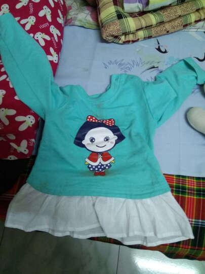 纤丝鸟(TINSINO)童装儿童新款男童女童抓绒卫衣开衫外套THY0533439D8 四色小花 蓝绿 90 晒单图