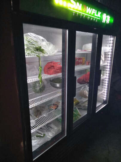雪花(SNOWFLK)商用冰柜冰箱展示柜保鲜柜立式冷藏柜商用冰箱展示柜饮料柜冷柜冷藏 LC-1800 三门1.8米 晒单图