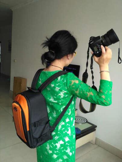 YASCIQ专业单反相机包 双肩 摄影包男女旅行背包适用于佳能80D750D尼康D7200 橘色款 晒单图