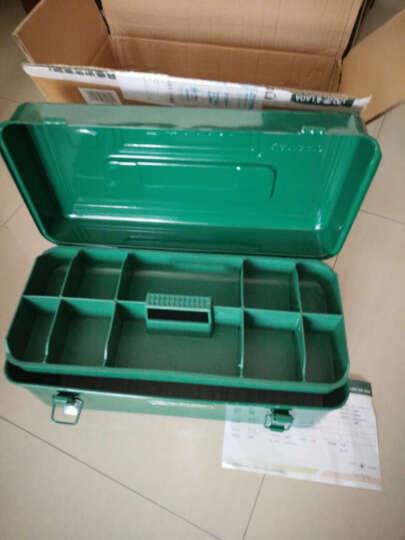 老A(LAOA)方形加厚铁皮金属五金工具箱 家用收纳箱 汽车修理后备箱 LA113410带隔层 晒单图