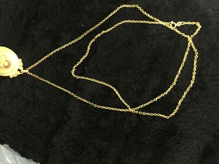 金悦美 彩金项链 18K玫瑰金空竹项链au750黄金链子女款显粗吊坠链 白18K金 26寸 65CM 晒单图