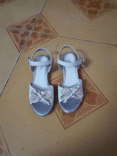 回力童鞋儿童凉鞋女童夏季新款时尚韩版公主鞋防滑沙滩鞋 女凉h16107-26107紫色 28/实测内长17.8cm 晒单图