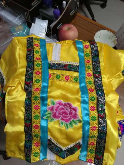 元旦女苗族服装舞蹈少数民族演出服装土家壮族黎族瑶族儿童表演服 黄色 150cm(150cm) 晒单图