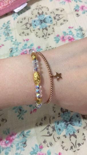 珂兰 18k金钻石手链时尚珠珠链系列女款 送女友 珠珠手链之小心愿 晒单图