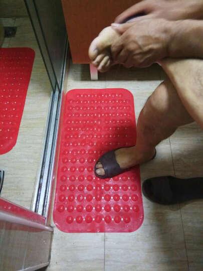 邦特家用大号浴室防滑垫按摩脚底进门门垫厕所卫生间厨房垫子沐浴地垫 红色草莓 36*71cm家人安全放心 晒单图