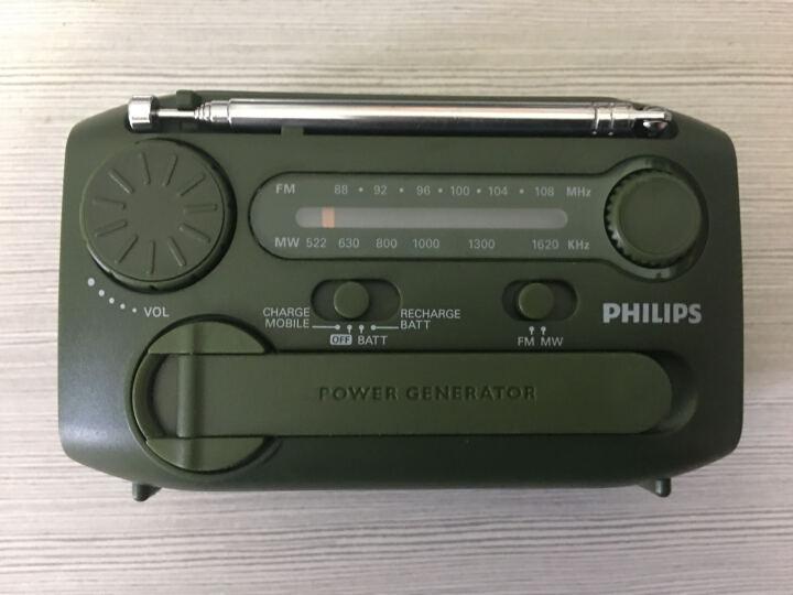 飞利浦(PHILIPS)AE1120/93 便携多功能户外半导体 驴友/老年人手摇发电 USB充电 内置报警器手电筒 晒单图