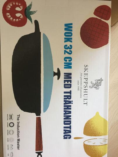斯肯特 【瑞典进口】 炒锅铸铁锅 无涂层物理不粘锅无油烟锅 平底炒菜锅具32CM 晒单图