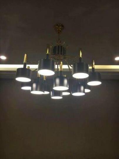 鹏瑞 后现代客厅吊灯北欧简约餐厅卧室书房创意锤子灯具别墅展厅咖啡厅灯饰 黑色双层8+4 晒单图