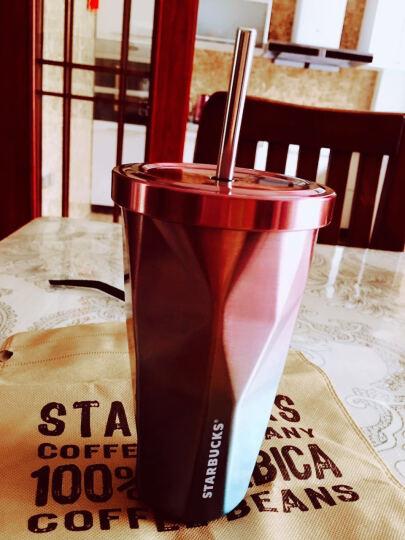 丰陶张生 冰杯双层不锈钢随行水杯子 吸管杯咖啡冷茶饮车载水杯子 男女马克杯办公 渐变英文 晒单图