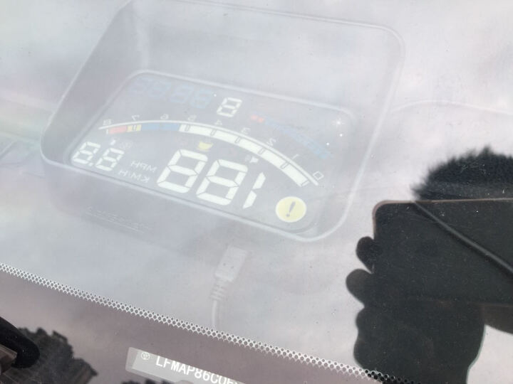 途行者 hud抬头显示器 手机导航 obd车载行车电脑投影仪显示仪汽车通用 车速油耗显示器 豪华款(全白色)(送遮光罩) 晒单图