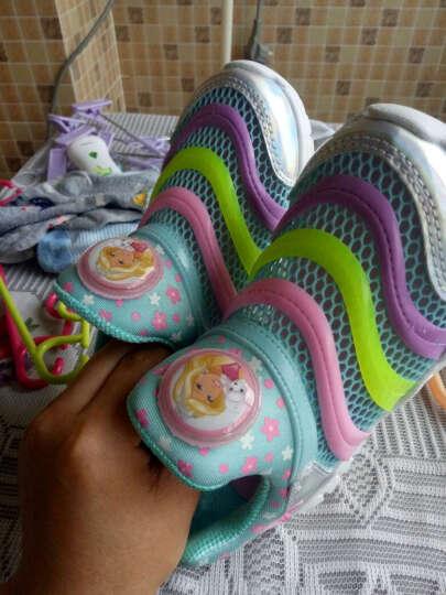 芭比 BARBIE 儿童运动鞋 毛毛虫童鞋 男女童运动鞋 1632浅蓝31 晒单图