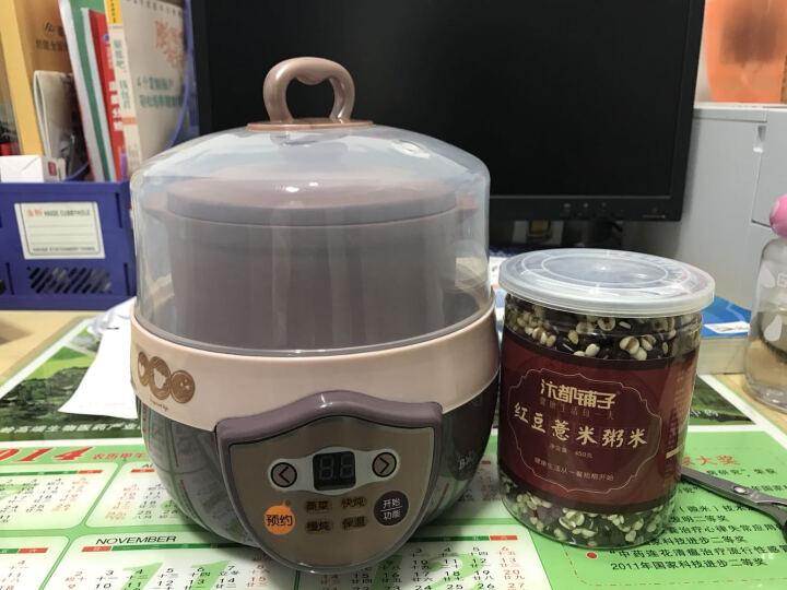小熊(Bear)电炖锅 隔水煲汤锅BB炖盅迷你紫砂宝宝煮粥锅DDZ-1082 0.8L 晒单图