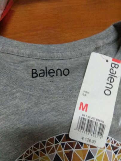 【售罄】Baleno/班尼路 夏季动物印花T恤男 纯棉休闲潮流半袖体恤男装 E96花灰 M 晒单图