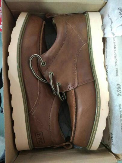 走索(Z.Suo)男鞋休闲鞋复古韩版男靴子英伦马丁靴户外 疯马棕 42标准皮鞋码 晒单图