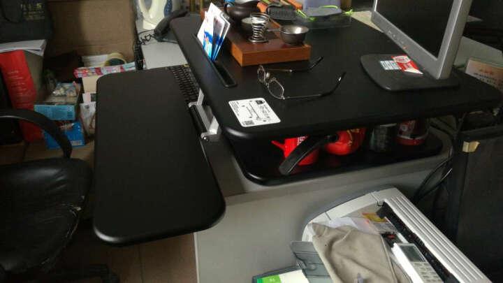 乐歌(Loctek)站立办公升降台电脑桌 笔记本显示器移动升降折叠式坐站办公桌书桌M3S黑 晒单图
