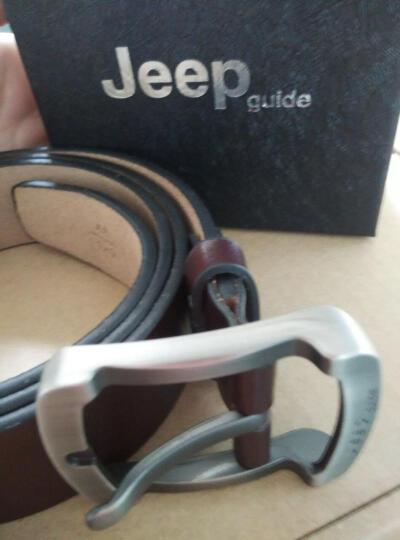Jeepguide男士皮带男真皮针扣休闲2017新款复古男士腰带 男皮带 JP03咖啡色 默认尺码 晒单图