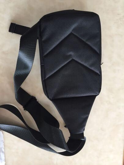 【一趣AFUN】男士胸包帆布休闲 斜挎包男单肩包运动背包男士挎包跨肩包 便捷腰包男户外 黑色 晒单图