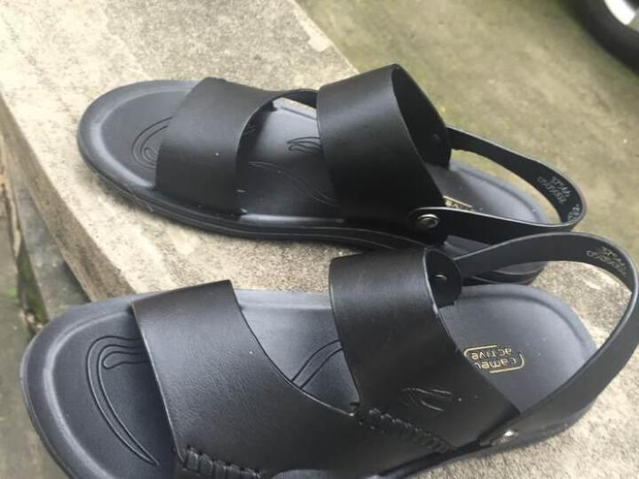 骆驼动感(camel active)夏季凉鞋男沙滩鞋时尚休闲鞋户外牛皮透气 37566 黑色 41码 晒单图