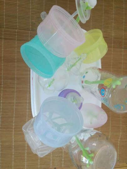 摩尔西夫 婴儿奶瓶 宽口径耐高温玻璃防胀气奶瓶 新生儿奶瓶带吸管把手保护套玻璃奶瓶 蓝色60ml+150ml+240ml 晒单图